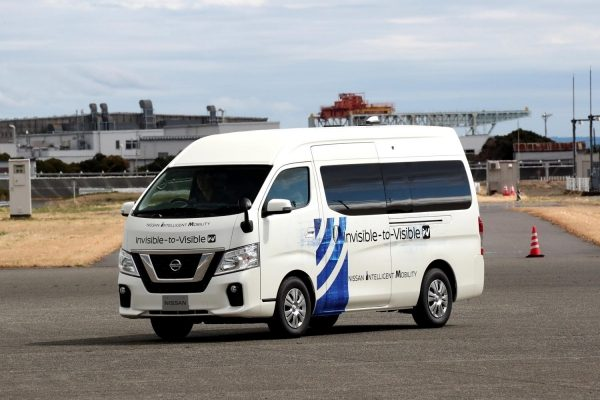 Nissan and DOCOMO test I2V technology using 5G in moving vehicle