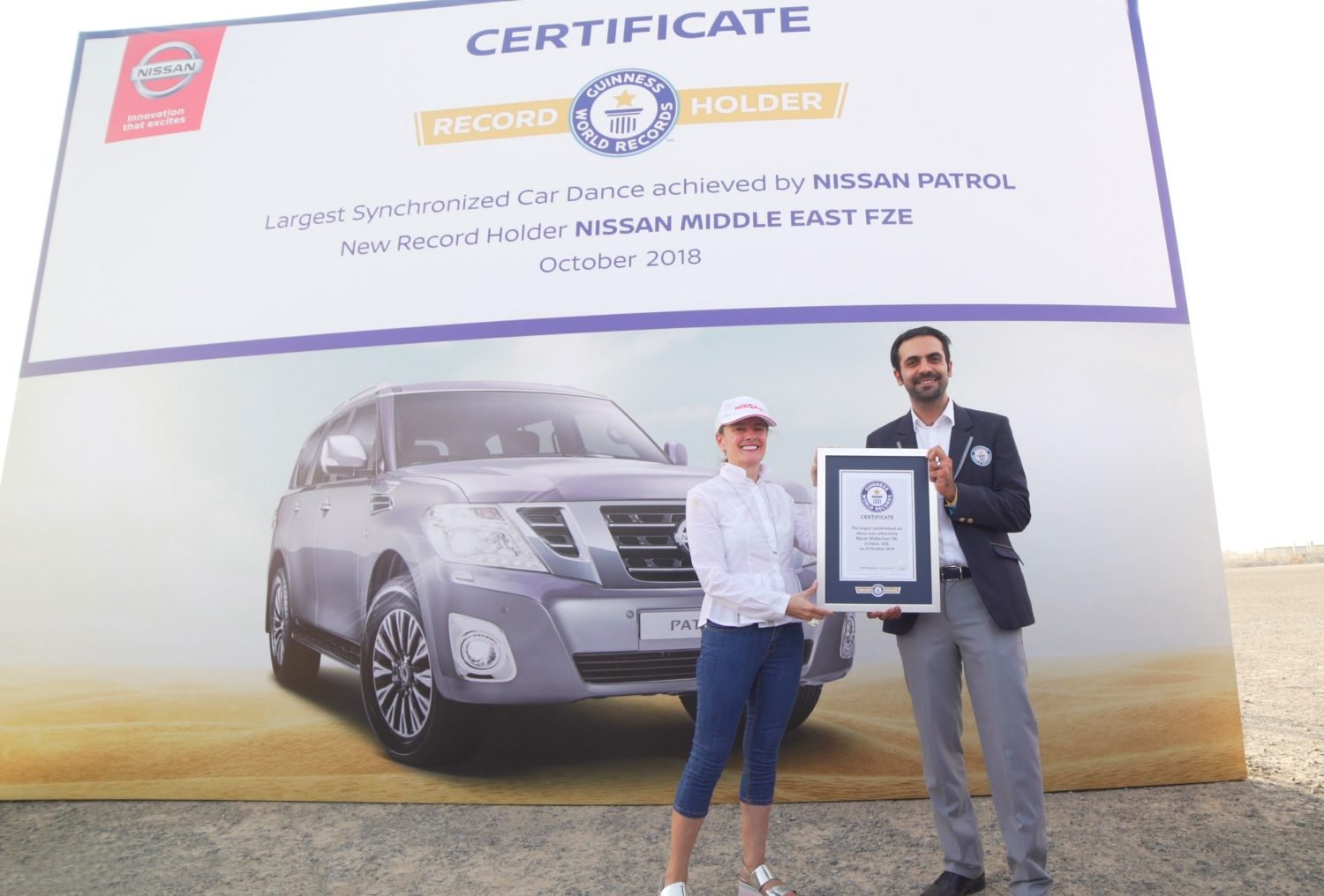 Nissan Patrol Breaks GUINNESS WORLD RECORDS title for Largest Synchronised Car Dance