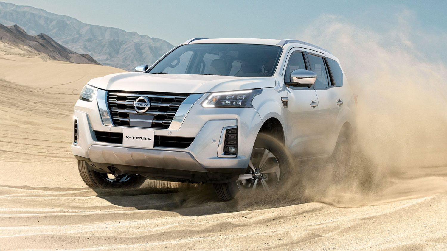 2021 Nissan X-Terra performance driving in desert