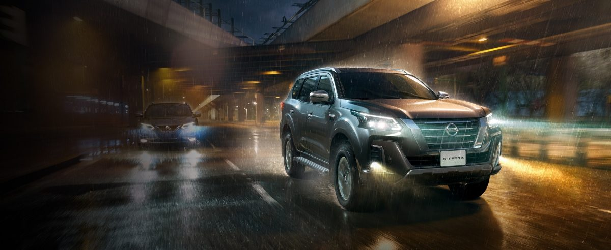 2021 Nissan X-Terra performance driving in rain