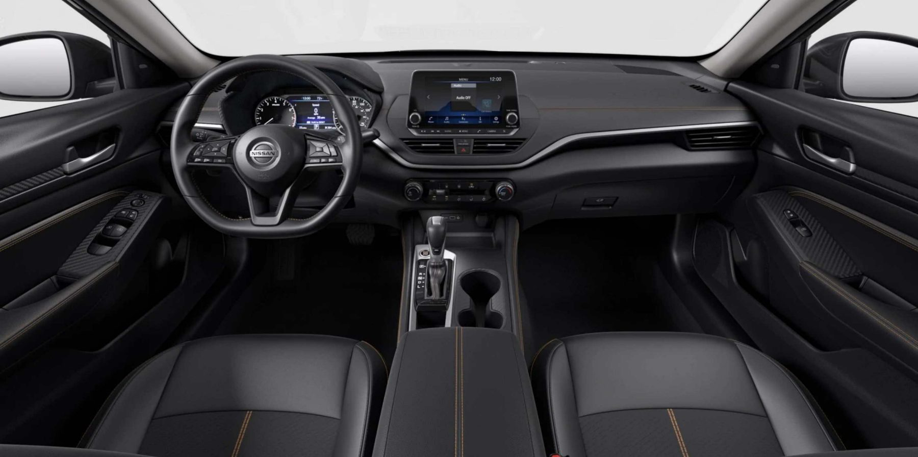 Nissan Altima interior in charcoal sport cloth