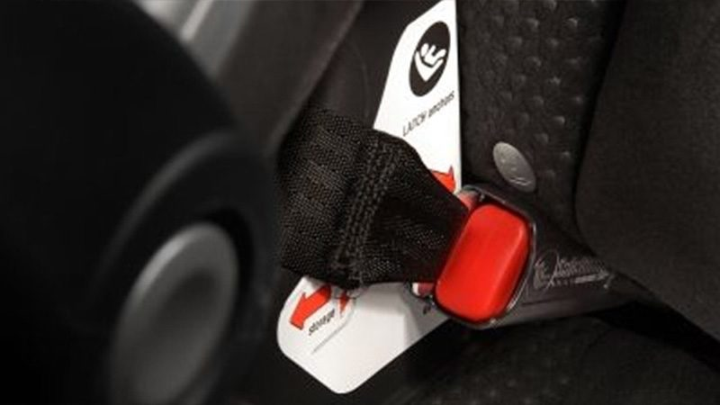 Nissan Altima close up child restraint system