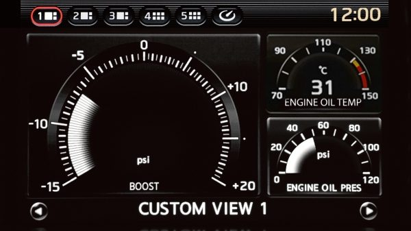 Nissan GT-R Multifunction Display Custom Engine View