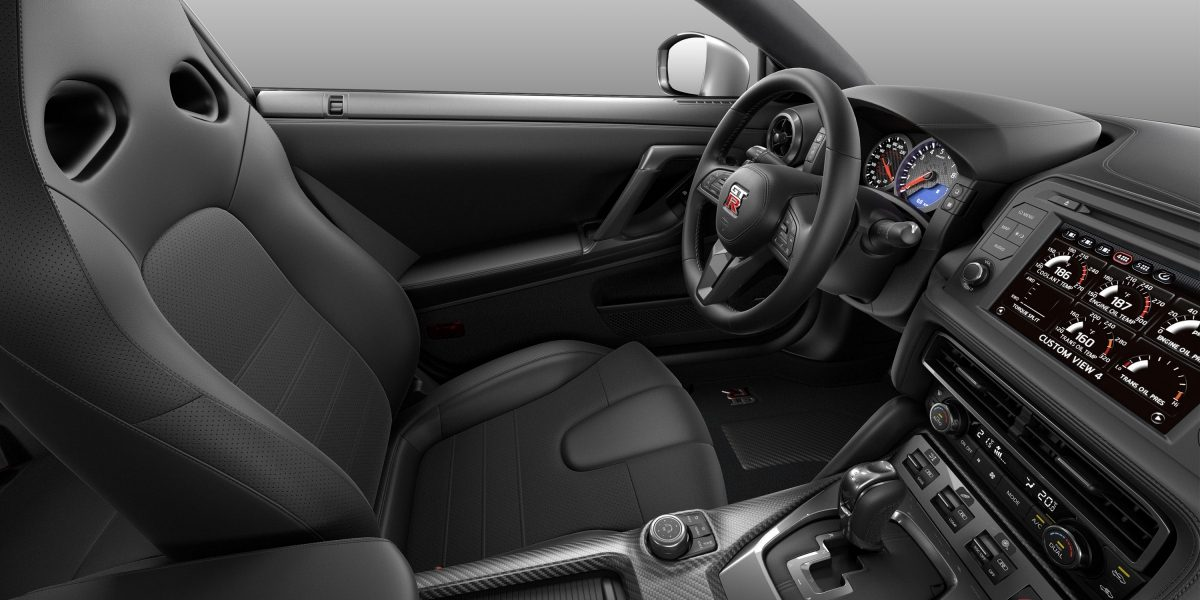 Nissan GT-R black leather interior