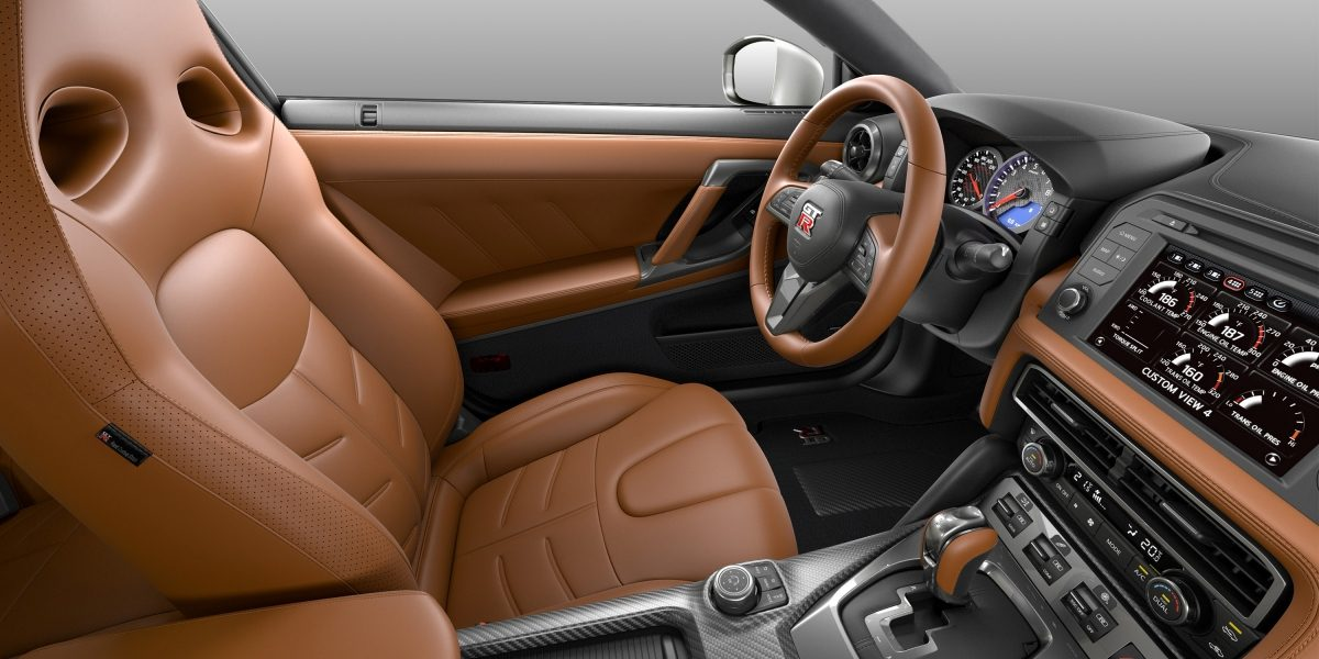 Nissan GT-R rakuda tan semi-aniline leather interior