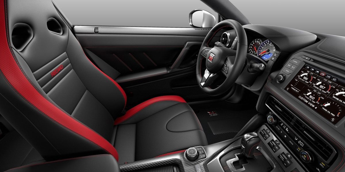 Nissan GT-R black/red leather interior