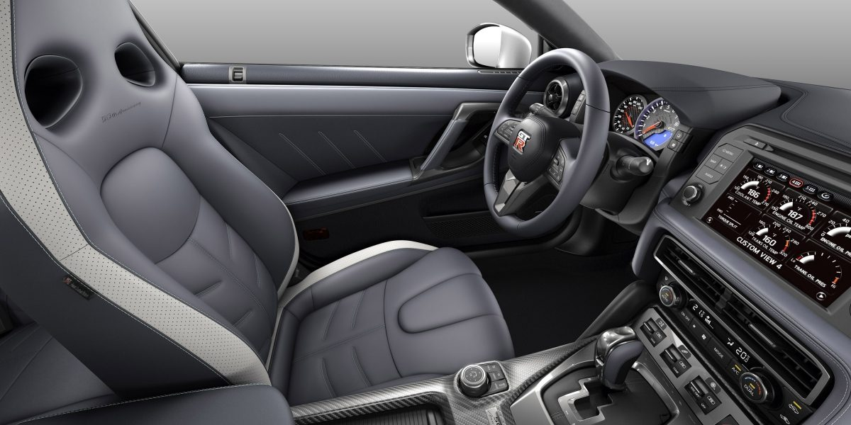 Nissan GT-R gray semi-aniline leather interior