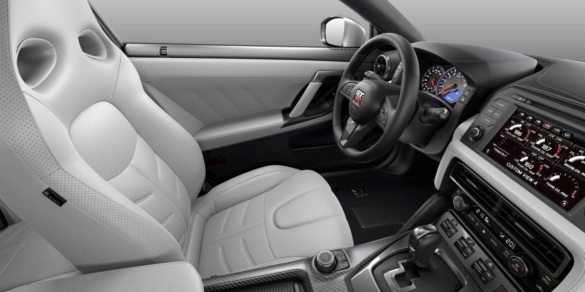 Nissan GT-R hai gray semi-aniline leather interior