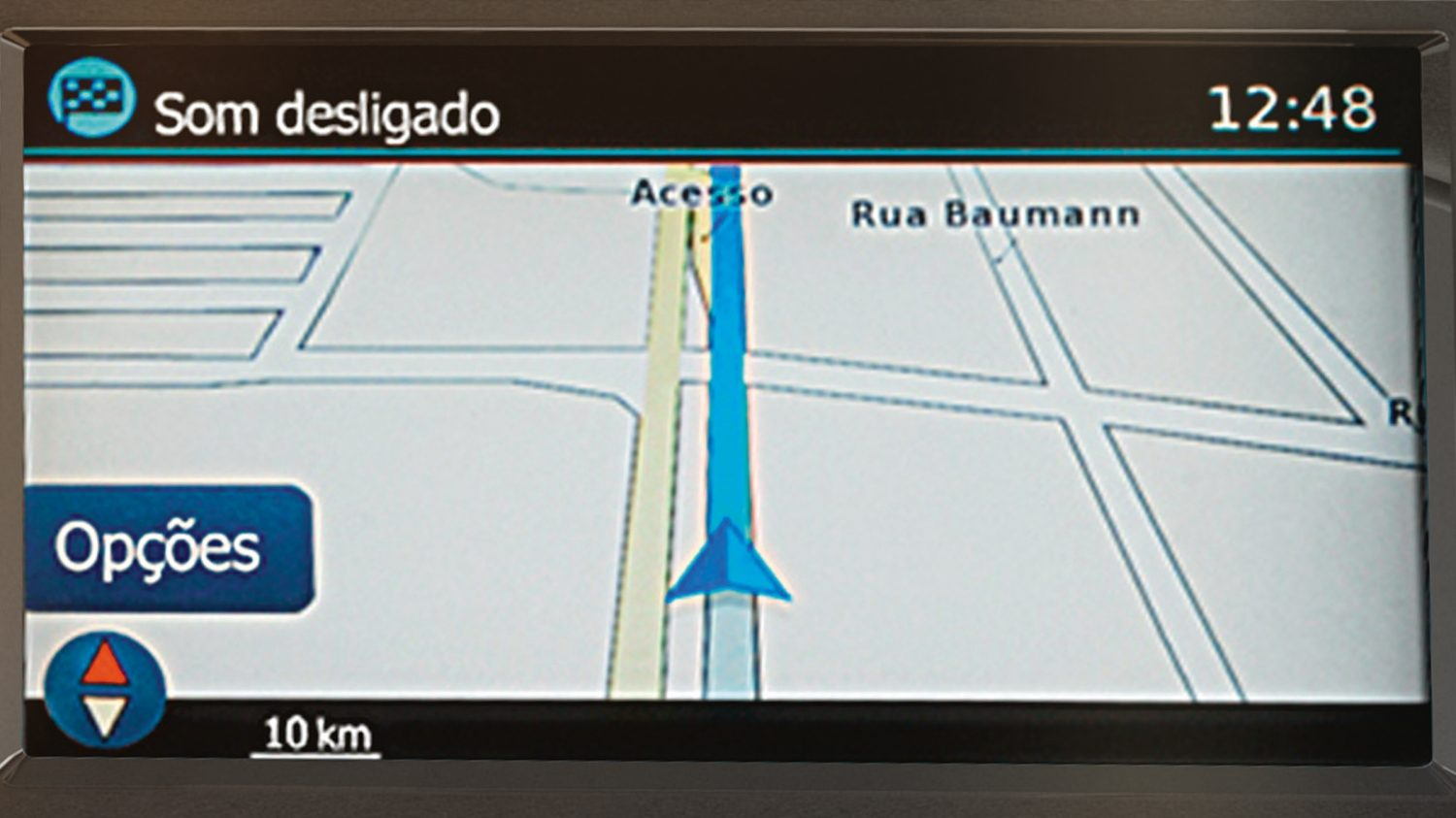 Nissan Kicks navigation screen