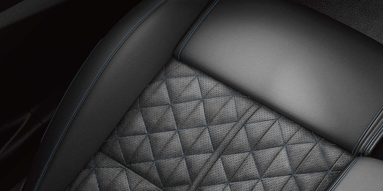 MAXIMA Midnight Edition - Charcoal Premium Ascot Leather Appointed Seats with Diamond Quilted Alcantara® Inserts