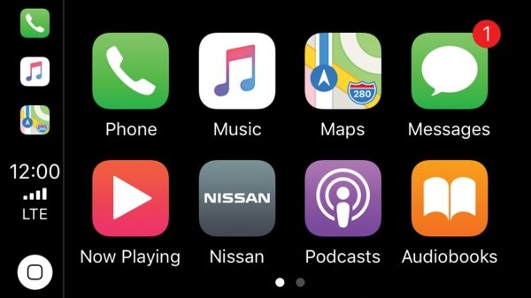 شاشة Apple Carplay بنيسان ماكسيما