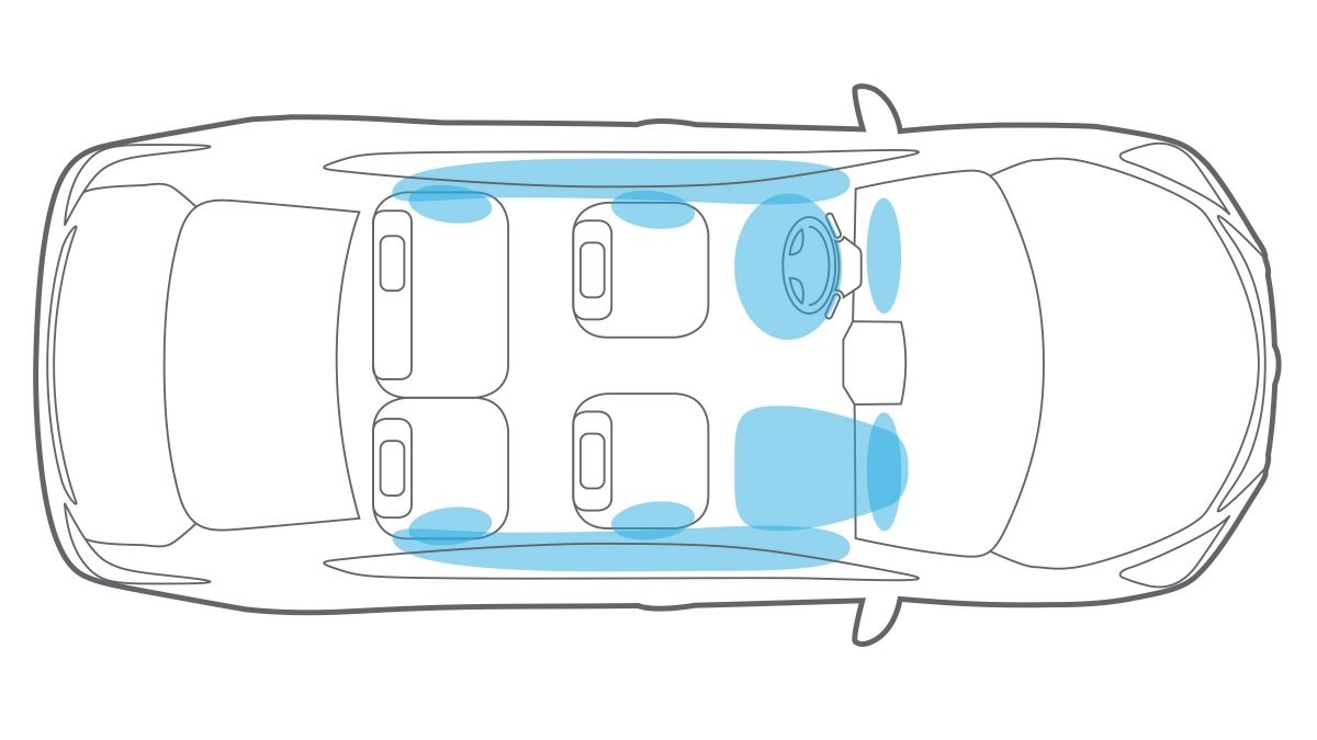 Nissan Maxima air bag system illustration