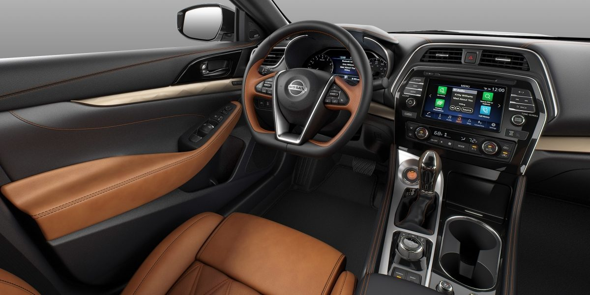 Nissan Maxima interior Rakuda Tan Semi-aniline Leather