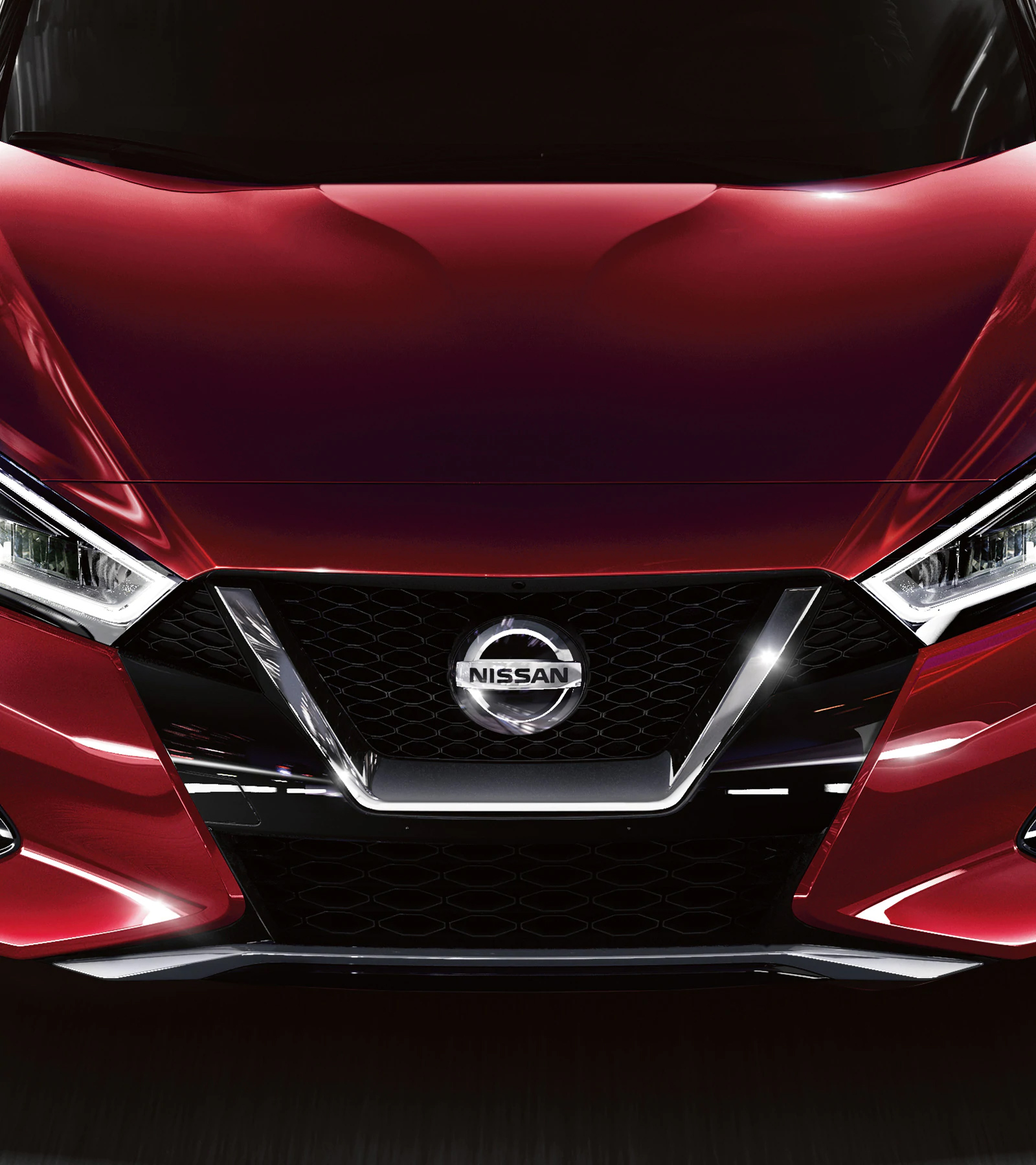 Nissan Maxima exterior finish in red
