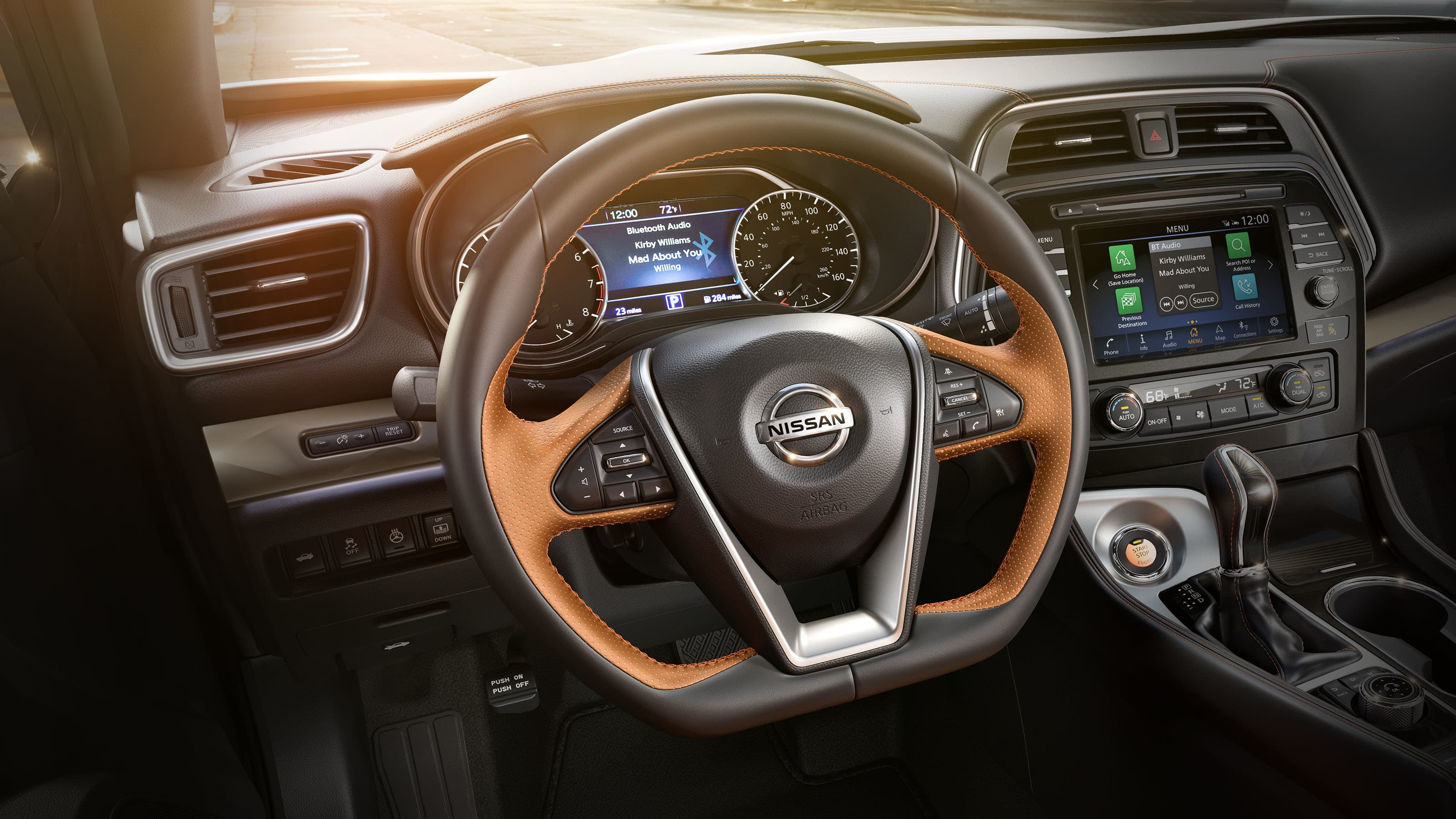 Nissan Maxima D-shaped steering wheel