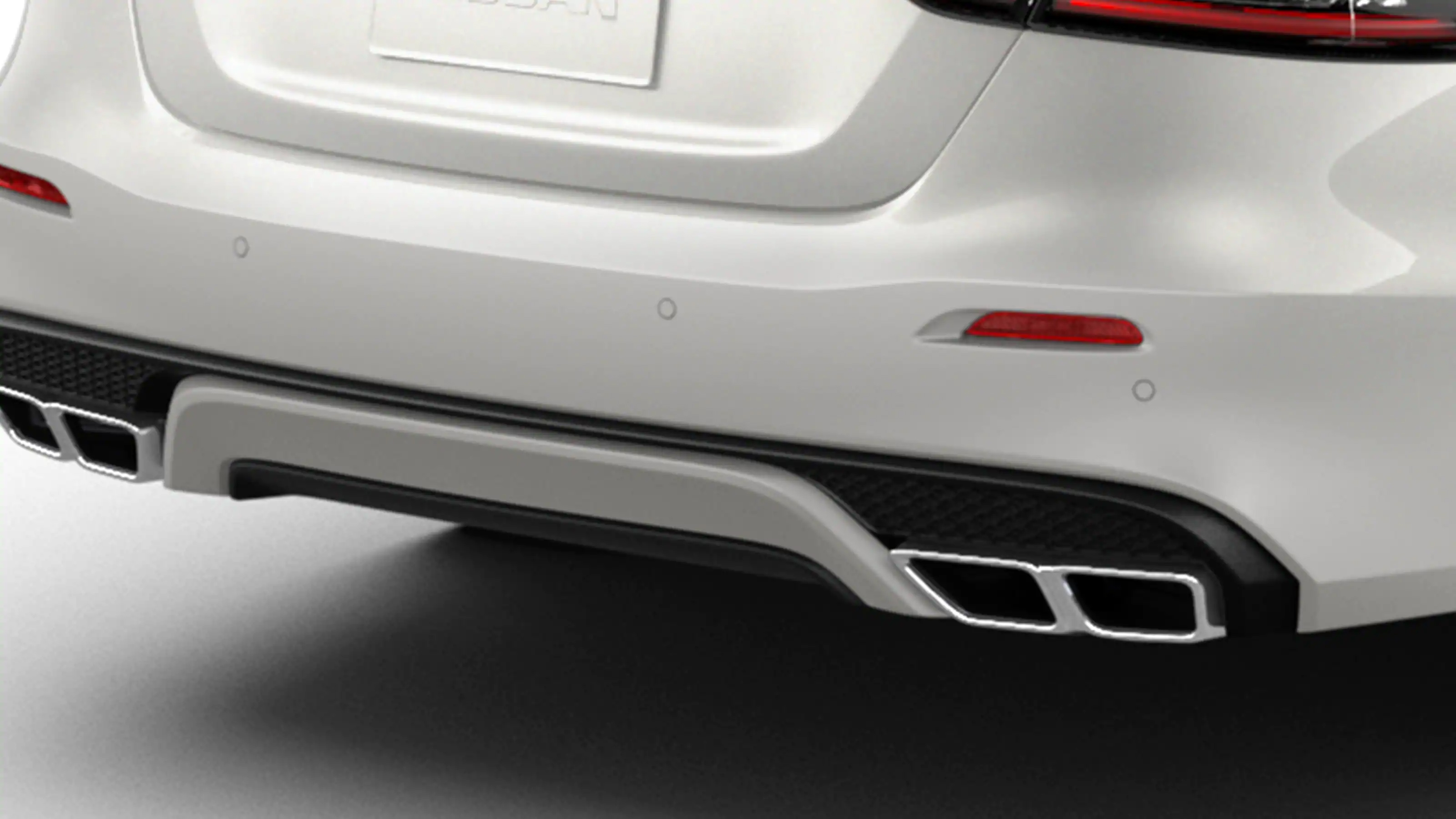 Nissan Maxima quad-tip exhaust finishers