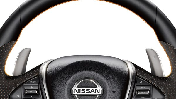 Nissan Maxima column-mounted paddle shifters