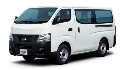 White Urvan Mini Bus