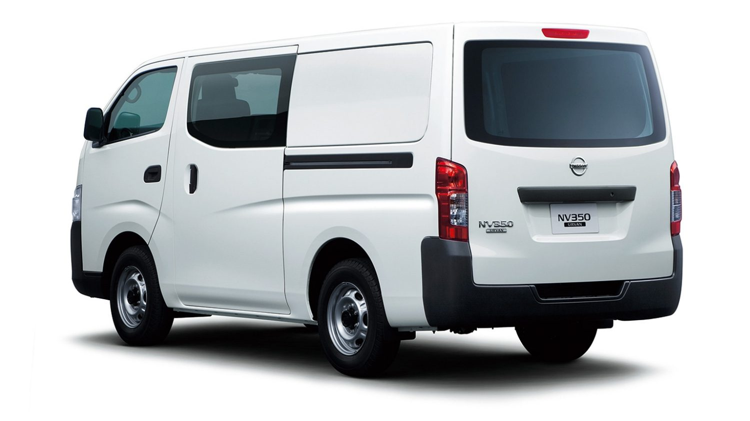 NV350 Half Panel Van bumps up the number of crew seats up to six with a  fold up second row. With 5 doors, passengers get access in an out from  either side ...