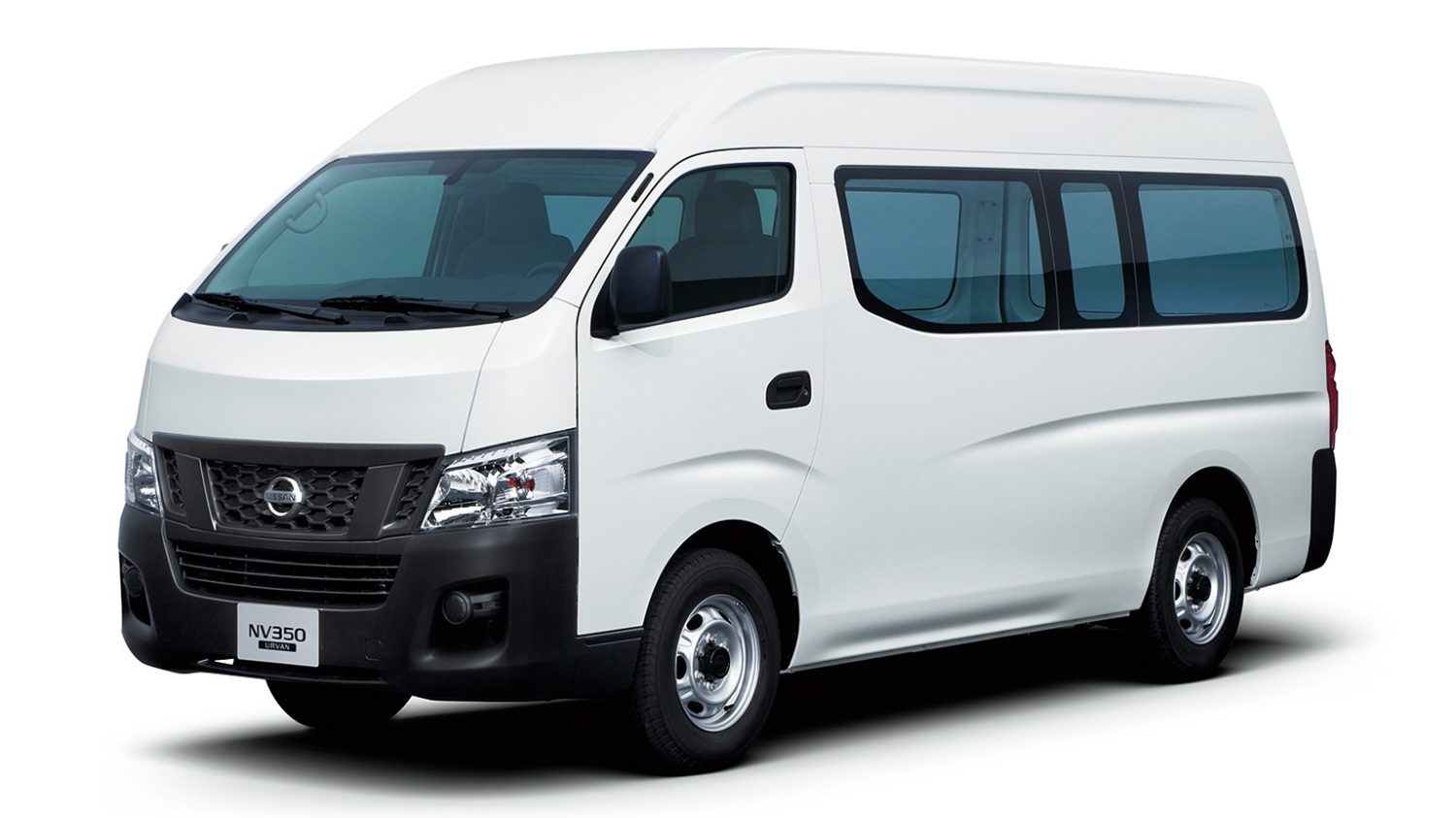 white urvan window van front