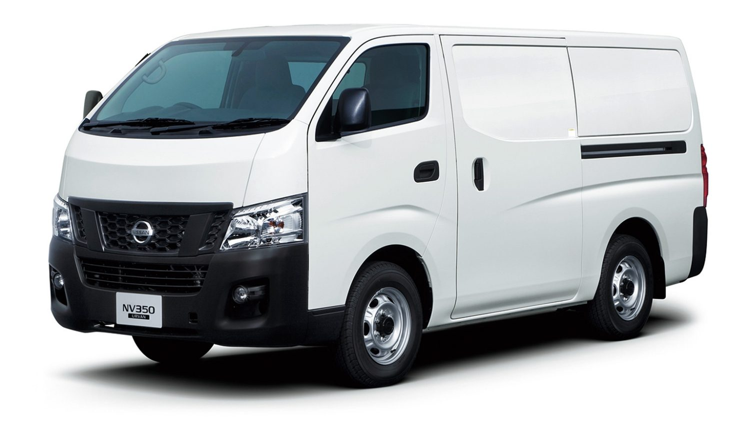white urvan panel van front