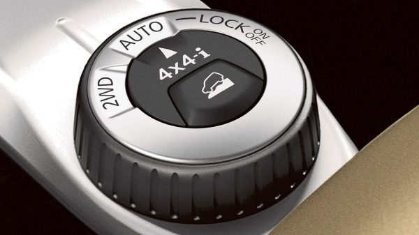 Nissan Pathfinder all wheel drive mode selector dial