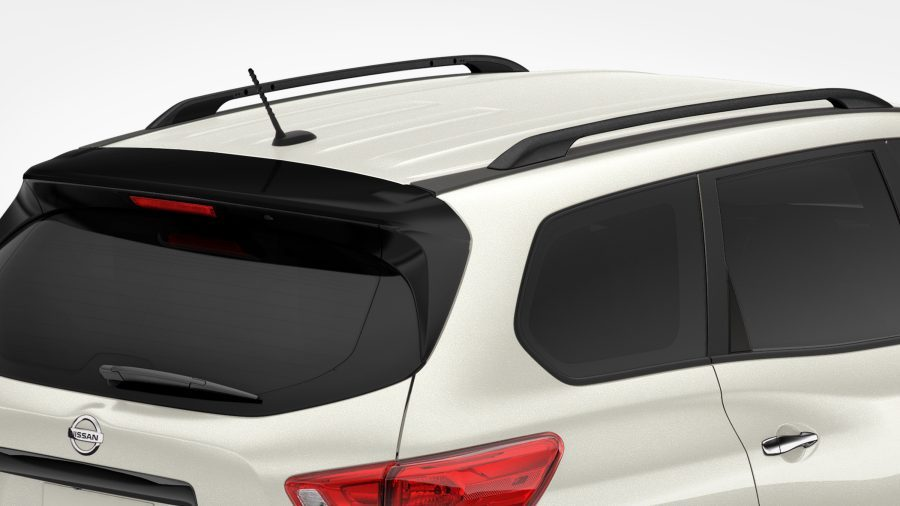 Pathfinder Midnight Edition - BLACK ROOF RAILS AND REAR SPOILER