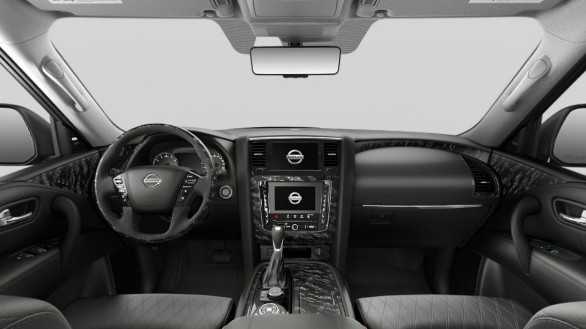 Nissan Patrol interior Black Leather