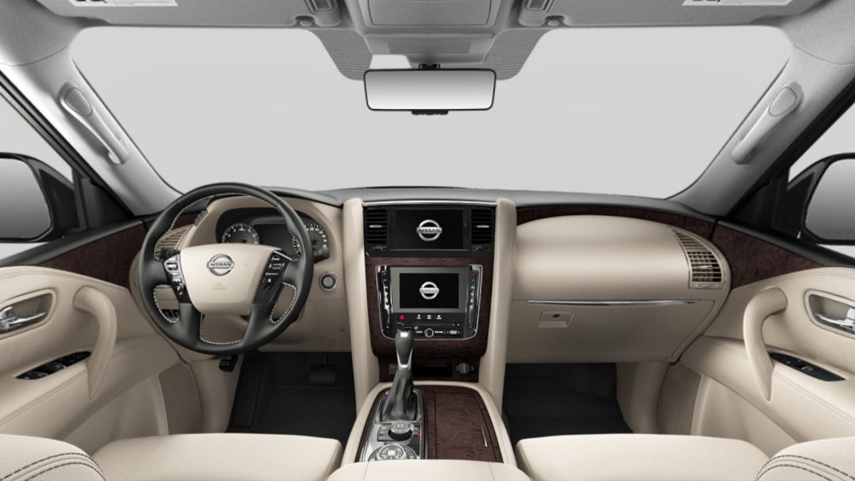 Nissan Patrol interior Beige Cloth