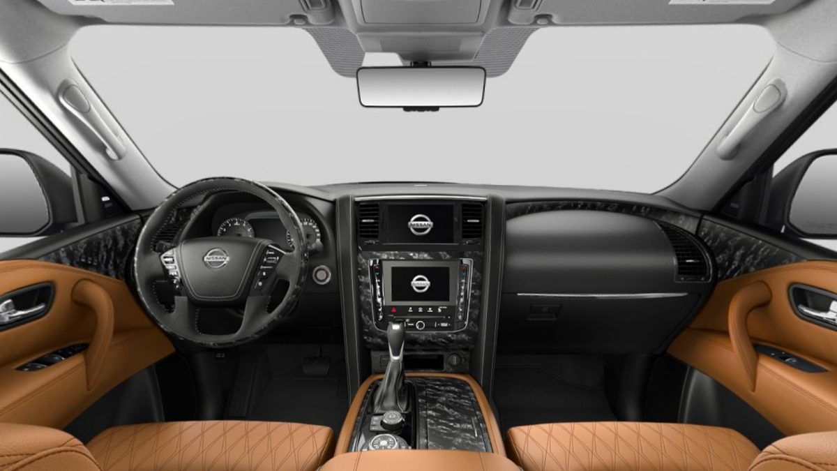 Nissan Patrol interior Tan Quilted Leather