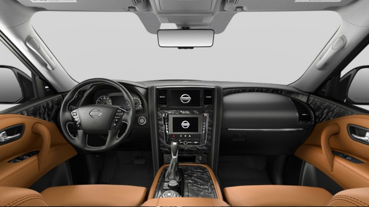 Nissan Patrol interior Tan Leatherette