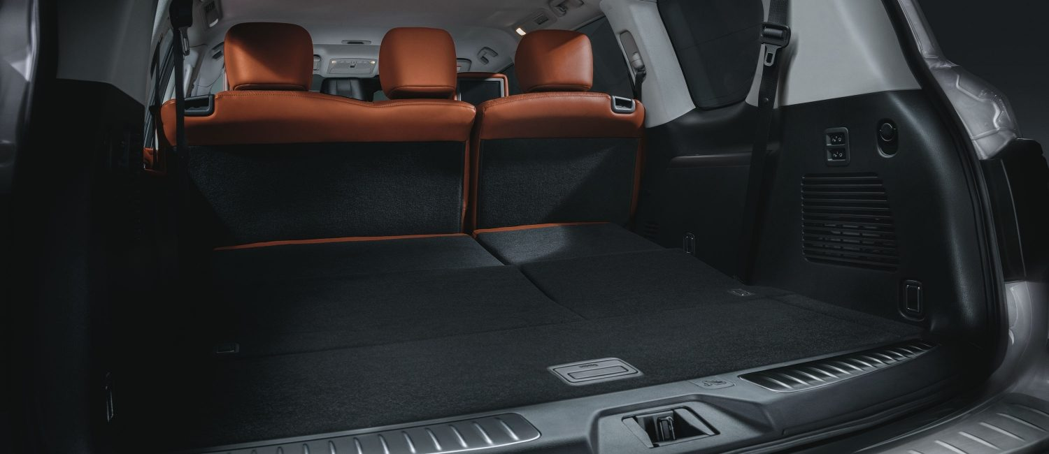 Back storage space in 2020 NISSAN PATROL
