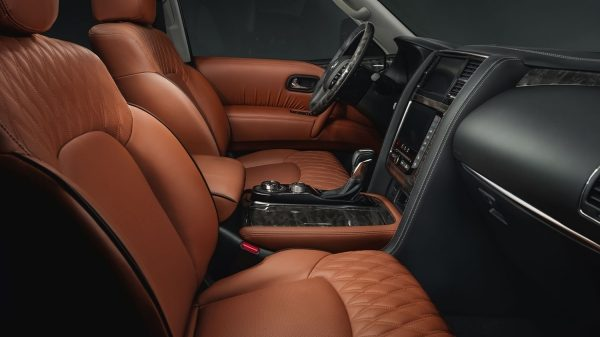 Tan leather seats in 2020 NISSAN PATROL