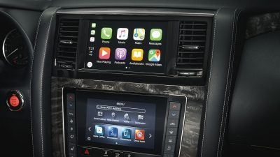 Apple CarPlay interface in 2020 NISSAN PATROL