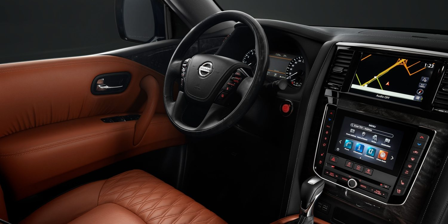 2020 NISSAN PATROL interior cockpit and center console