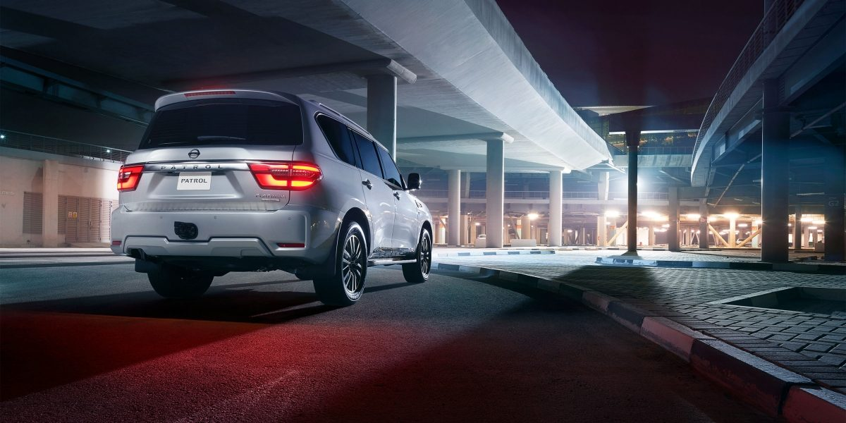 2020 NISSAN PATROL parked in an outdoor parking