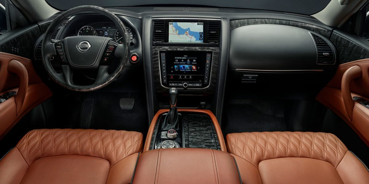 2020 NISSAN PATROL front touchscreens and dashboard
