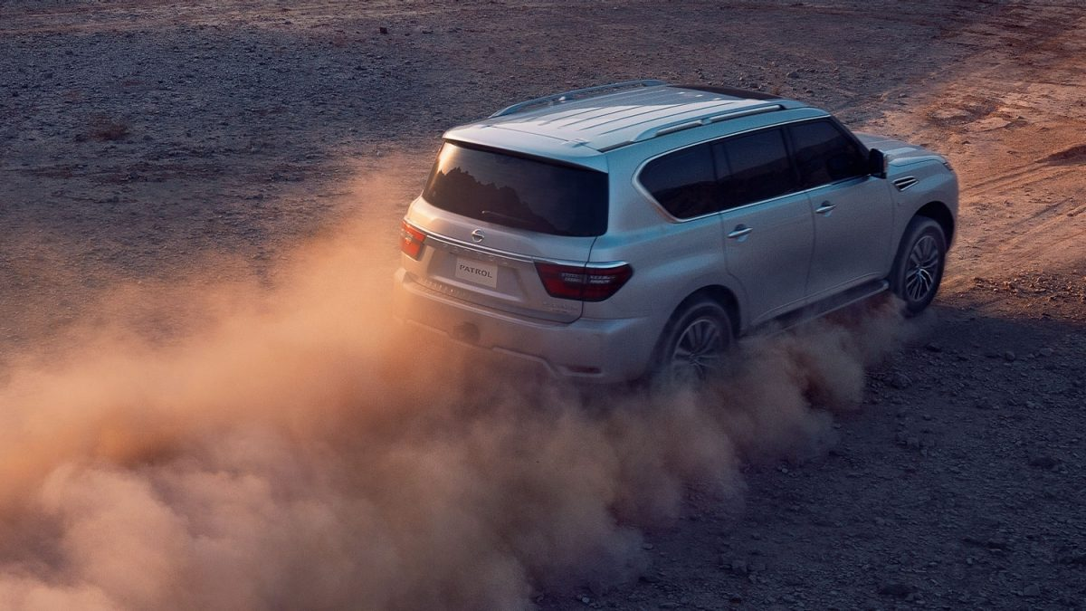 2020 NISSAN PATROL braking off-road