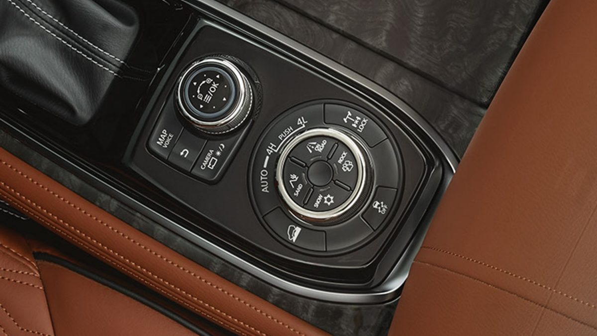 Variable 4X4 control switch inside 2020 NISSAN PATROL