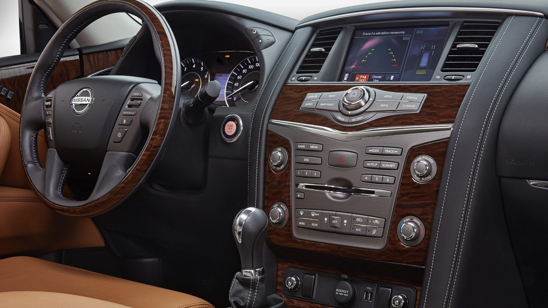SUV interior - dashboard and steering