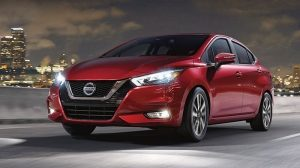 2020 Nissan Sunny Driving at Night