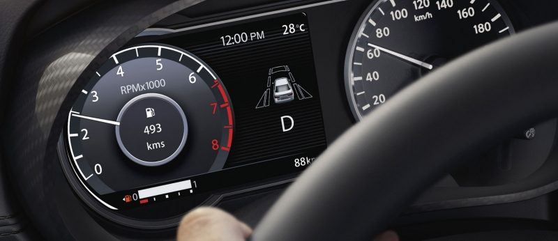 2020 Nissan SUNNY Advanced Drive Assist Display showing tachometer