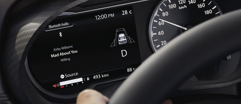 Nissan SUNNY Advanced Drive Assist Display showing music screen