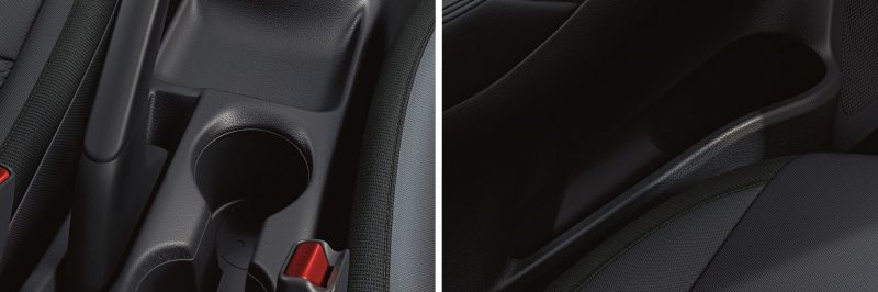 Nissan SUNNY shifter and cupholder storage
