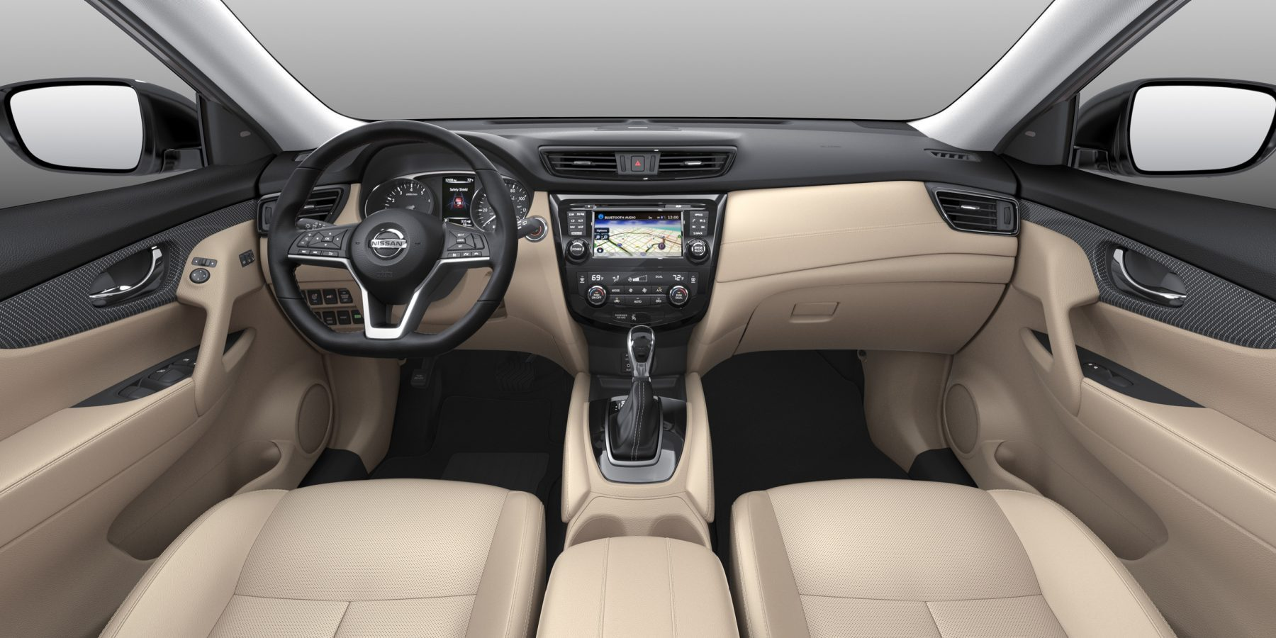 X-Trail large interior shot - beige cloth