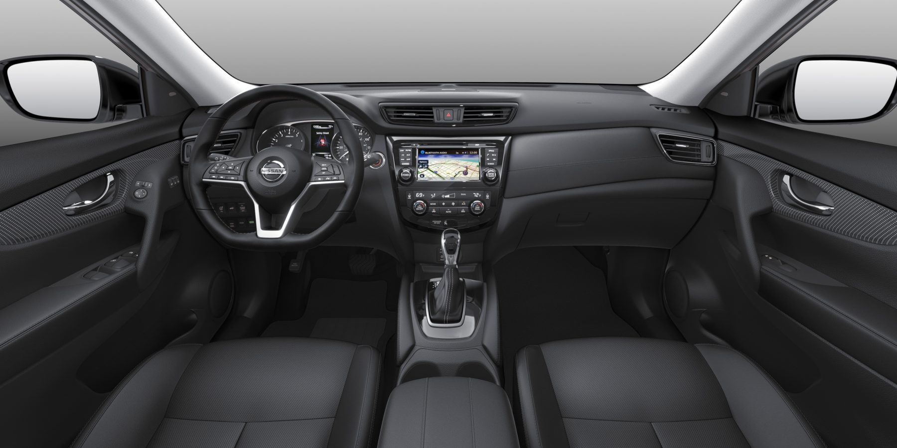 X-Trail large interior shot - black cloth