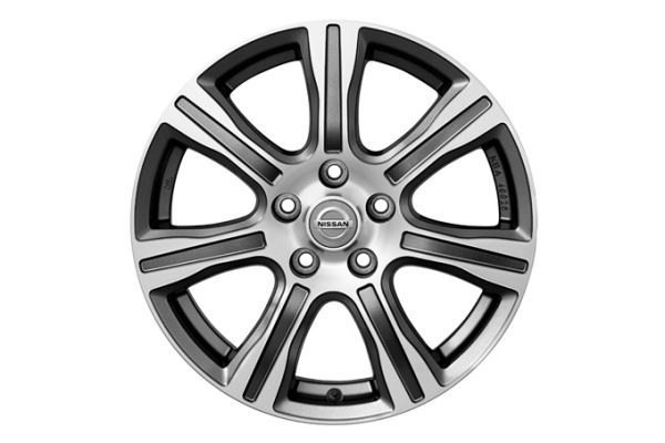 "Nissan Tiida - 17"" BOLD alloy wheel  Dark Grey Diamond Cut"