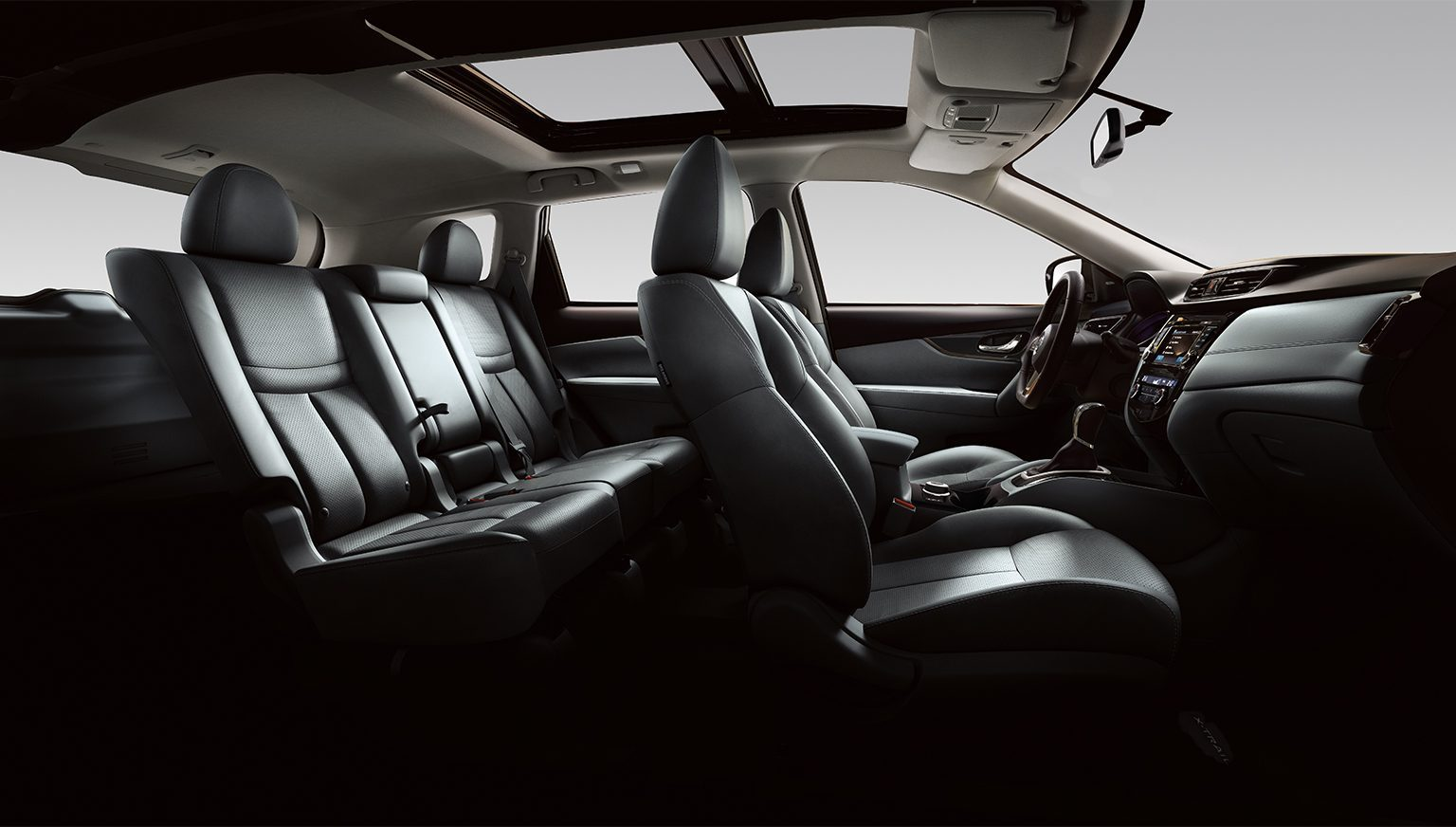 X-Trail large interior profile - black leather