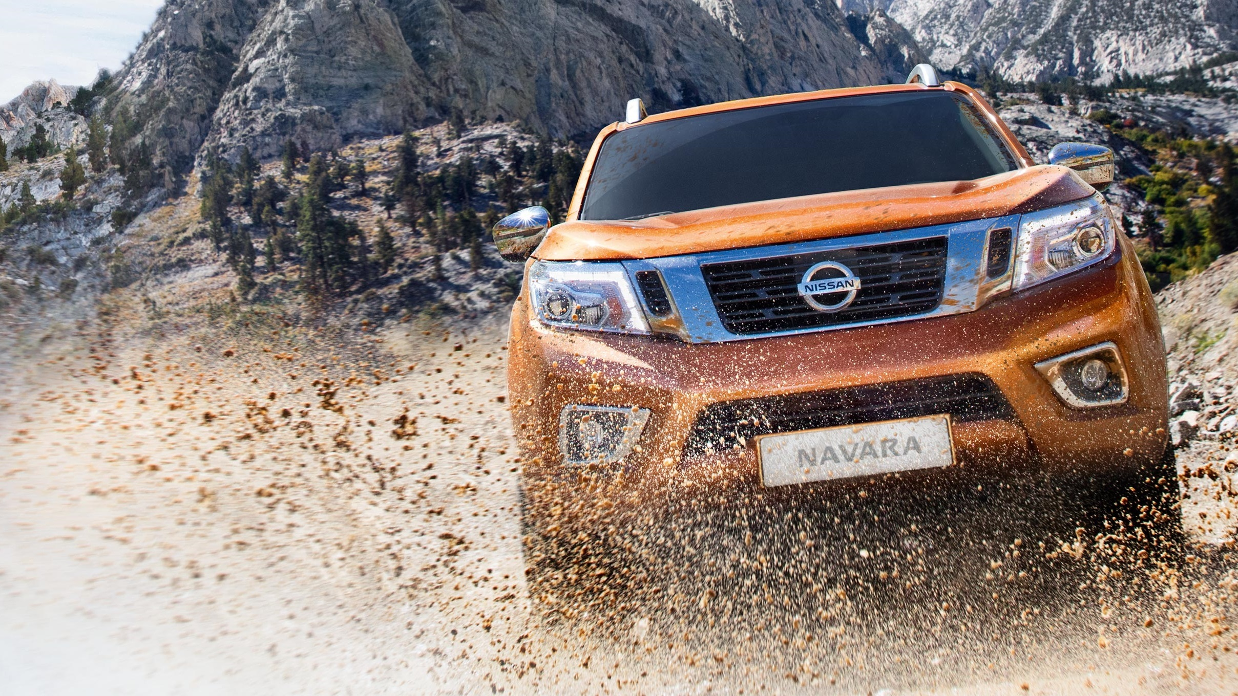 Nissan Navara driving in the desert