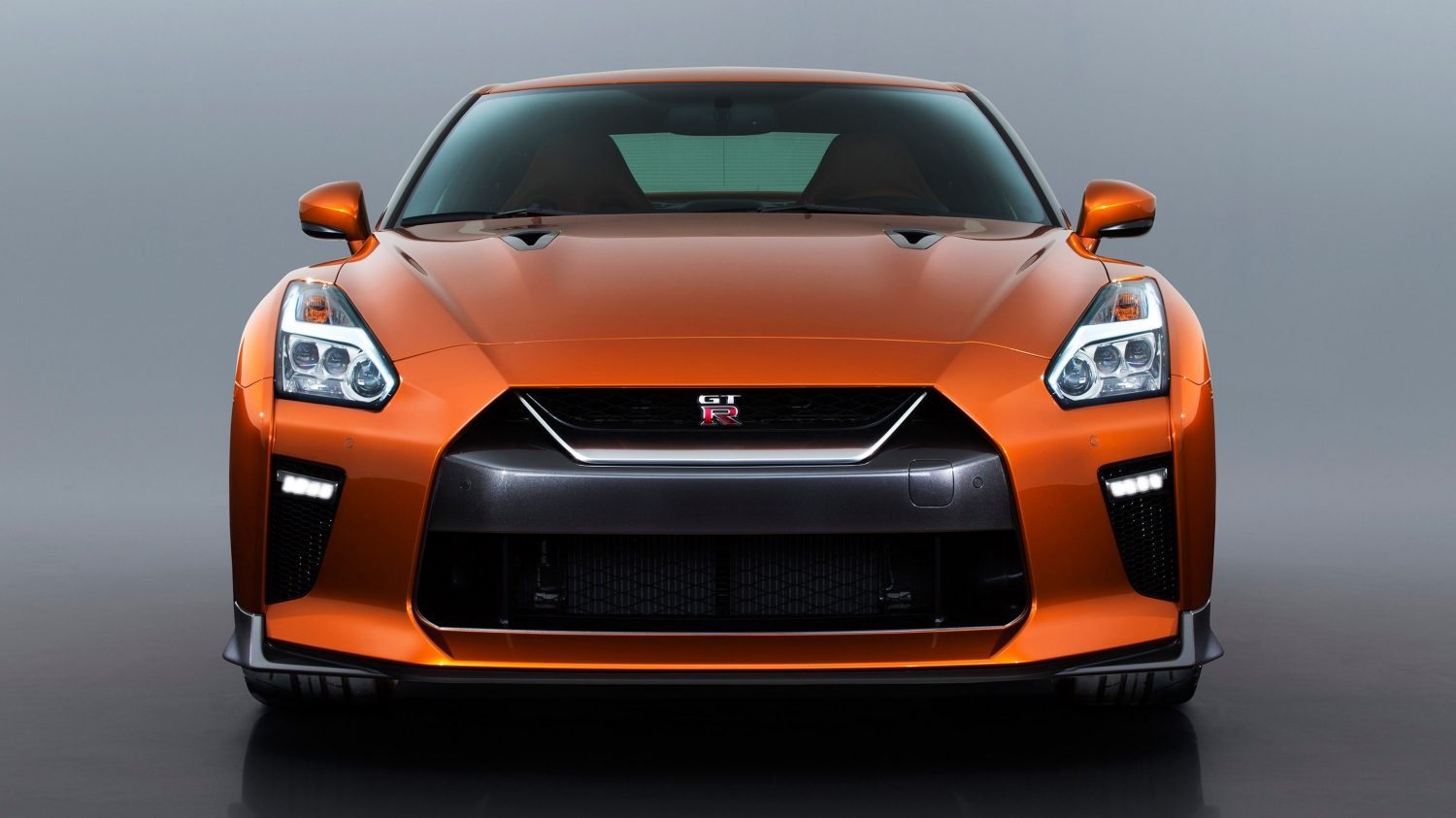 GTR in Orange head on
